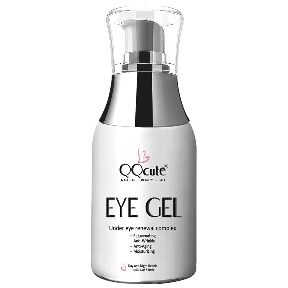 Eye Gel Cream, QQcute Day & Night Repair Eye Treatment Cream Anti Aging Complexes to Reduce Dark Circles, Puffiness, Under Eye Bags, Wrinkles & Fine Lines, Eye Moisturizer for Men & Women - 1.7 fl oz.