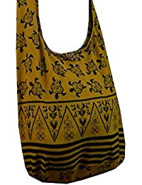 BTP! Turtle Sling Crossbody Shoulder Bag Purse Hippie Hobo Thai Cotton Gypsy Bohemian Large