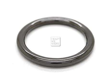 Amazon.com: CRAFTMEmore 4PCS Inside 1 1/4 Inch Metal O Ring Welded ...