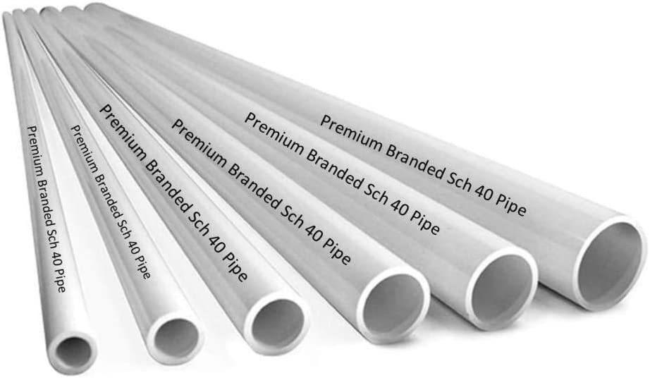 40 1 1//4 Inch White//PVC // 1 FT 1.25 PVC Pipe Sch