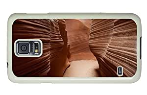Hipster fashion Samsung Galaxy S5 Cases antelope canyon walls PC White for Samsung S5