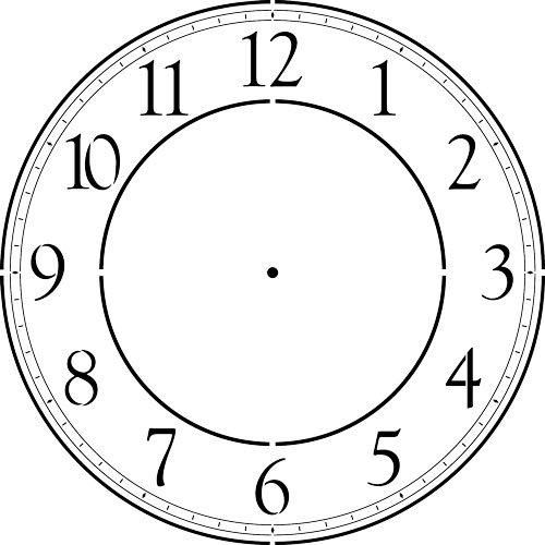 (Contemporary Clockface Wall Stencil (36))
