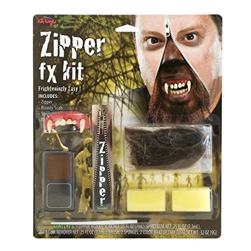 [Halloween Deluxe Zipper FX Kit Warewolf rsp 9.99 for Fancy Dress by Wicked Wicked] (Zipper Fx Kit)