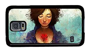 Hipster wholesale Samsung Galaxy S5 Cases girl tears PC Black for Samsung S5