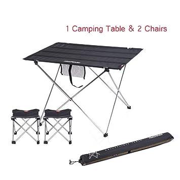 Amazon.com: Mesa plegable portátil para camping con bolsa de ...