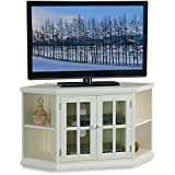 Bowery Hill 46 Corner TV Stand with Bookcases in White