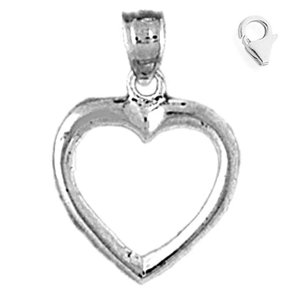 JewelsObsession Sterling Silver 20mm Floating Heart Charm w//Lobster Clasp