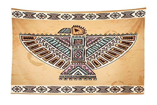 - Lunarable Tribal Tapestry, Vintage Cultural Art Theme Animal Totem, Fabric Wall Hanging Decor for Bedroom Living Room Dorm, 45