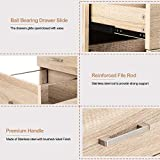 Bonnlo 3-Drawer Rolling Wood File Cabinet with