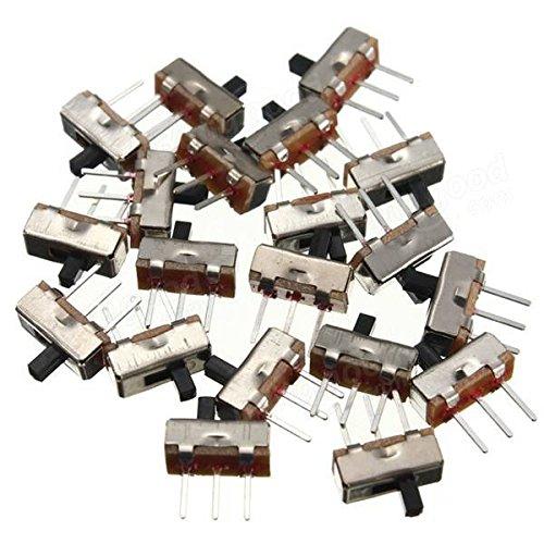 20pcs SS12D00G3 2 Position SPDT 1P2T 3 Pin Panel Mini Vertical Slide Switch Arduino Compatible SCM /& DIY Kits Arduino Compatible SCM Components 20 x Slide switch
