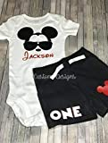 Mickey Mouse 1st Birthday Outfit / 1st birthday outfit/Personalized Birthday Boy