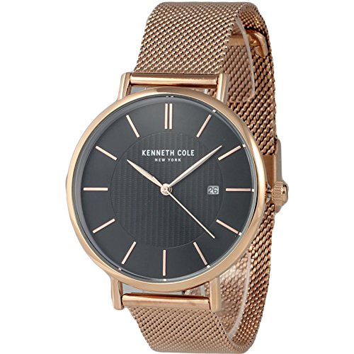Kenneth Cole New York Men's Rose Gold-Tone Analog Watch Steel Mesh Bracelet KC50037009 (Kenneth Cole Watches Rose Gold)