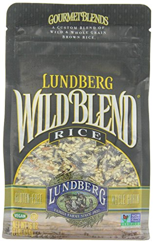 (Lundberg Wild Blend, Gourmet Blend of Wild and Whole Grain Brown Rice, Gluten Free, 16-Ounce Bags)