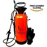 Könnig 0.8-2.0 Gallon Lawn, Yard and Garden Pressure Sprayer For Chemicals, Fertilizer, Herbicides and Pesticides with FREE Pair of Garden Gloves (2.0 Gallon) (2.0 Gallon)