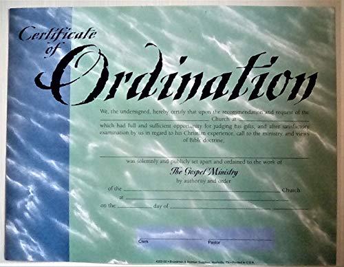 Certificate of Ordination - Certificate Ordination