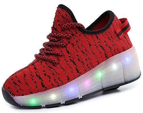 頬骨背骨市の中心部メンズ レディース キッズ ローラーシューズ 光る 子供 誕生日プレゼント led 滑れるスニーカー 靴 大人