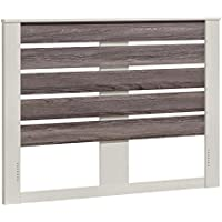 Ameriwood Home Colebrook Queen Headboard, Vintage White/Rustic