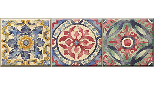 Wall Pops WPSS1984 Iznik Tile Stair Stripe Decal, Multi-Color