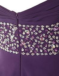 Dresstells Long Chiffon Dress with Beadings Bridesmaid Dresses Prom Dress Burgundy Size16