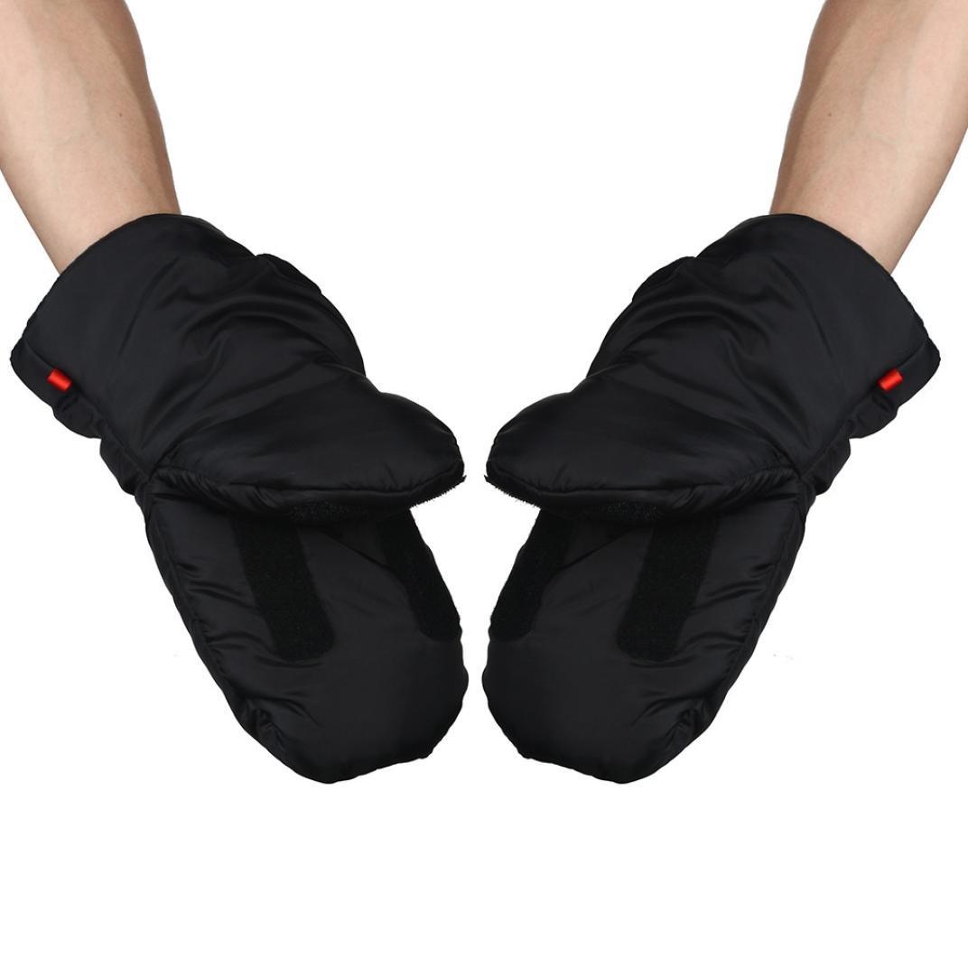 YJYdada Baby Stroller Gloves Winter Anti-Freeze Stroller Thermal Warm Carriage Gloves