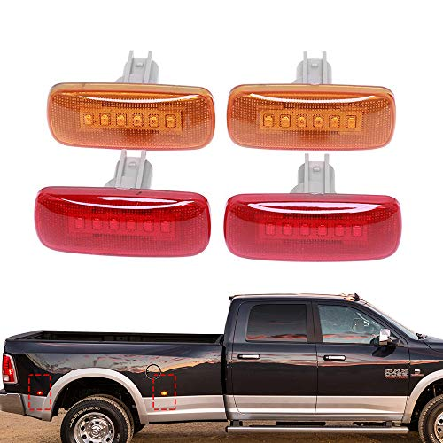 6-LED Side Marker Lights for 2010-2017 Dodge Ram 2