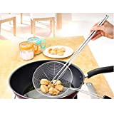 Extra Long 14 Inch Stainless Steel Hot Pot Chopsticks for Cooking Frying Noodle (Silver)