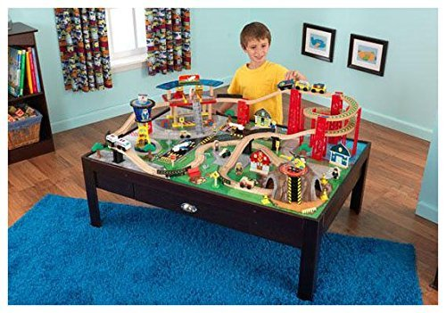 $129.99 (was $259.99) KidKraft Airport Express Espresso Table and Set