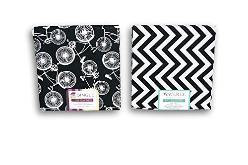 Black Fat Quarter - Creative Cuts Fat Quarters Bundle - Black and White Pattern Theme