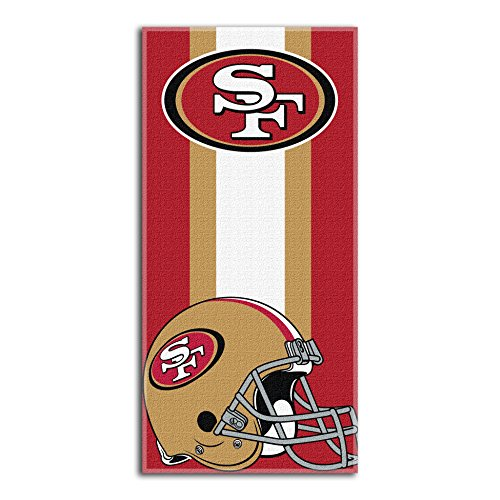 The Northwest Company NFL San Francisco 49ers Zone Read Beach Towel, Red, 30