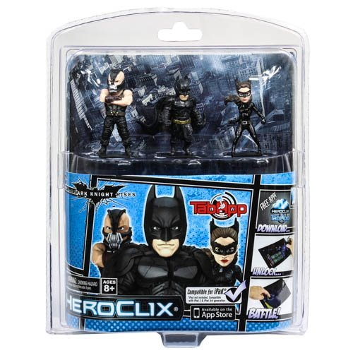 DC Comics Dark Knight Rises Batman HeroClix TabApp, 3-Pack (Catwoman From The Dark Knight Rises)
