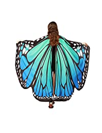 WOCACHI Halloween Costume Butterfly Wings Scarves, Women Cloak Cape