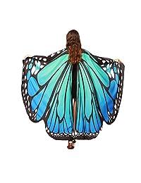 WOCACHI Halloween Costume Butterfly Wings Scarves, Women Cloak Cape