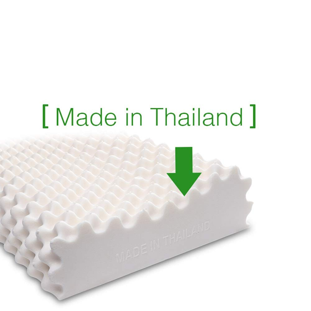WTGG-Home Textile Latex Pillow - Thai Natural Latex Pillow Whole Imported Natural Large Particle Massage Latex Pillow Ergonomic Pillow 95% Latex Content /& by WYGG (Image #4)