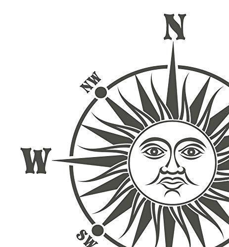 Windrose Aufkleber Sonne Kompass Ab 40 Bis 70cm Maritimer