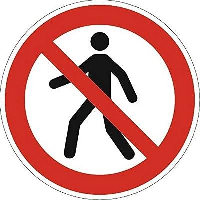 Cartel prohibido peatones d.200 mm Ku. Rojo/Negro ASR a1.3 ...