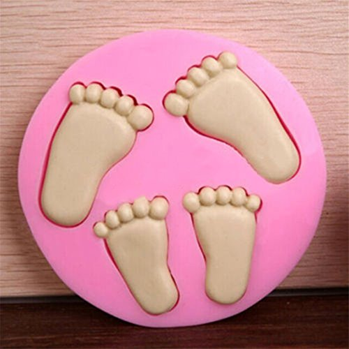 Dolland Cute Baby Feet And Shoes Silicone Fondant Cake Mold Kitchen Baking Mold Cake Decorating Moulds Modeling Tools