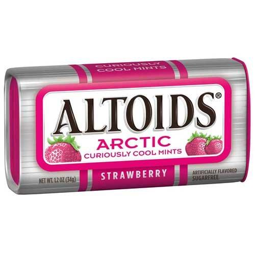 Altoids Arctic Strawberry Mints, 1.2 Ounce -- 96 per case.