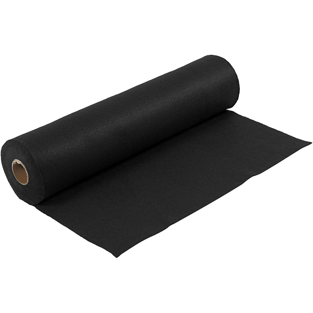 Rollo de fieltro Icon Craft color negro 45 cm x 5 m