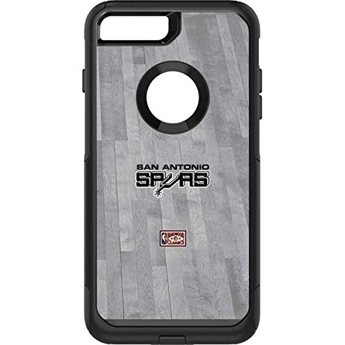(Skinit San Antonio Spurs Hardwood Classics OtterBox Commuter iPhone 7 Plus Skin for CASE - Officially Licensed NBA Skin for Popular Cases Decal - Ultra Thin, Lightweight Vinyl Decal Protection)