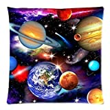 Bernie Gresham Universe Solar System Planets Earth Galaxy Nebula-Custom Pillowcase