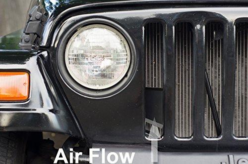 AVT Intake Scoop 1997-2006 Jeep Wrangler TJ 2.5 / 4.0 r + Horsepower / MPG Black