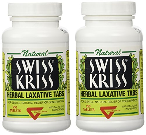 250 Tab Swiss Kriss Laxative - Swiss Kriss Herbal Laxative Tablets By Modern Products (2 Bottles each of 250 Tablets)