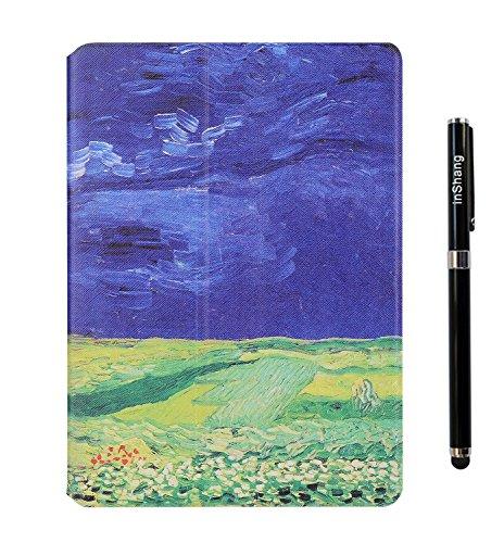 inShang 9.7 inch iPad (2017) Fundas soporte y carcasa para Apple 9.7 inch iPad (2017) ( , smart cover PU Funda ,art style + clase alta 2 in 1 inShang marca negocio Stylus pluma Blue sky and white clouds