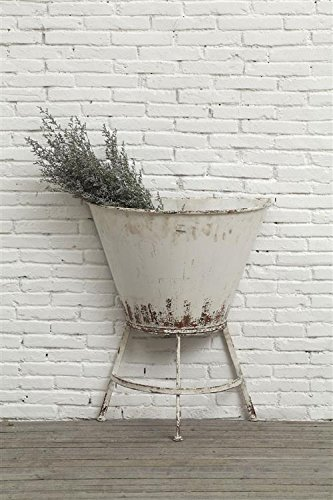 Amazon Com Metal Half Wall Planter On Stand Distressed Antique