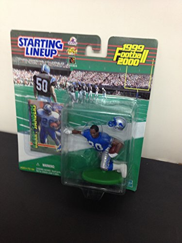 1999 2000 Barry Sanders Detroit Lions Running Back Action Figure With Collectible Trading Card ()