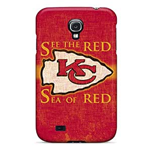 New WeLQi9775vNnsR Kansas City Chiefs Red Tpu Cover Case For Galaxy S4