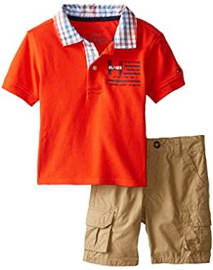 Tommy Hilfiger Baby Boys' Pique Polo and Short Set