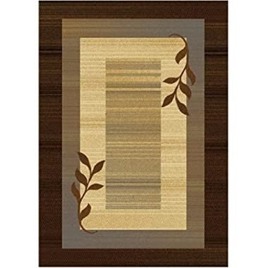 Home Dynamix Royalty Hd602j-530 5-Feet 2-Inch by 7-Feet 2-Inch Area Rug, Brown/Blue