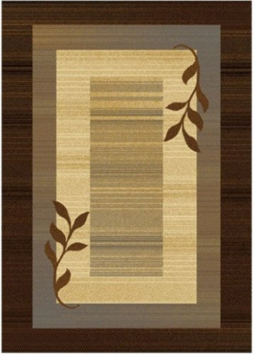 Home Dynamix Royalty HD602J-530 Polypropylene 7-Feet 8-Inch by 10-Feet 4-Inch Area Rug, Brown/Blue