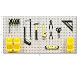"Tools & Hardware : Seville Classics UltraHD 24"" X 48"" Steel Pegboard Set and 23-Piece Peg Hook Assortment with 6 Bins"